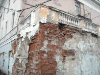 Деформации зданий на мерзлоте. Воркута 3
