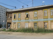 Деформации зданий на мерзлоте. Якутск