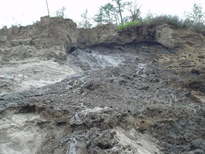 Landslips in Yakutia 3